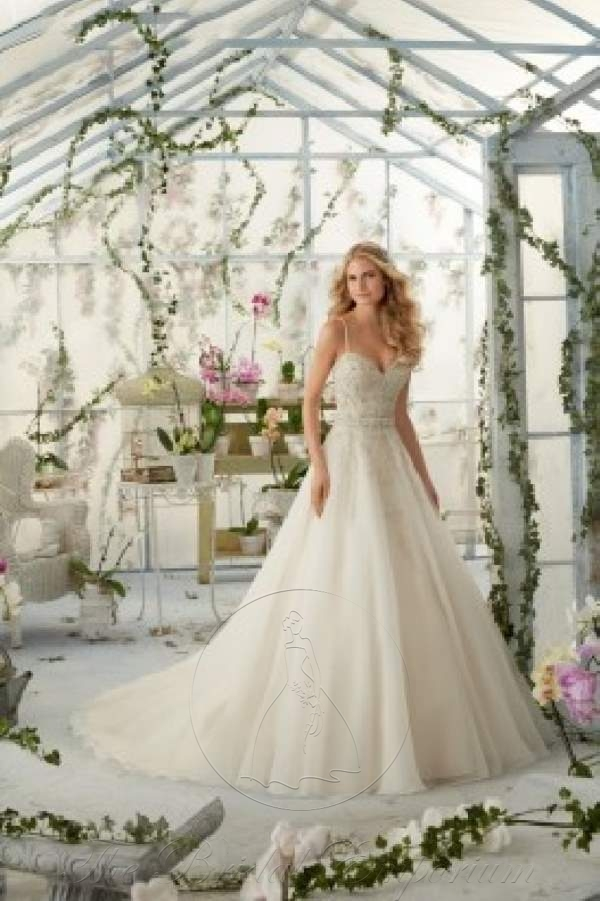 Crystal Beaded Organza Ball Gown