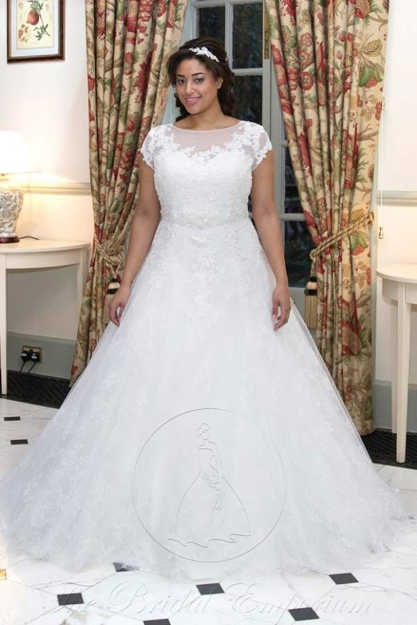 Stunning strapless full length lace ballgown.